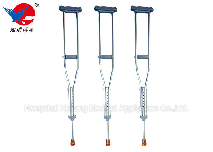 Skid Proof Medical Walking Crutches , High Durability Stainless Steel Crutches